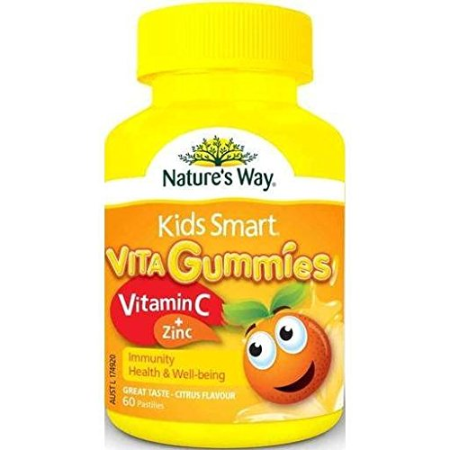 Natures Way Kids Smart Vita Gummies Vitamin C+ Zinc 60 Gummies for Immune Support, Health, Wellbeingwith WellbeingNatures Way Kids Smart Vita Gummies Vitamin C+ Zinc 60 Gummies for Immune Support, Health, Wellbeingwith Wellbeing