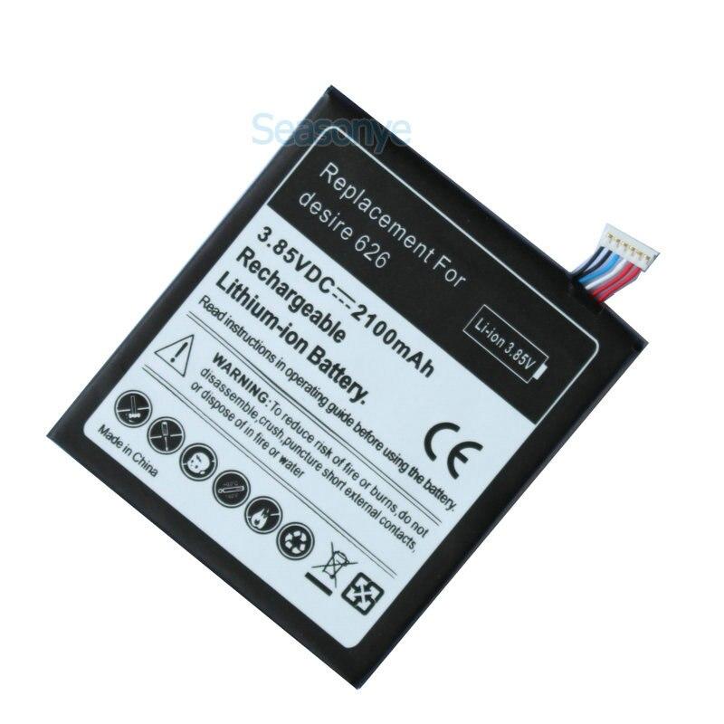 Seasonye 2100 mAh B0PKX100/BOPKX100 3.85VDC Batterie De Remplacement Pour HTC Desire 626 D626W D626T 626G 626 S D262W D262D A32