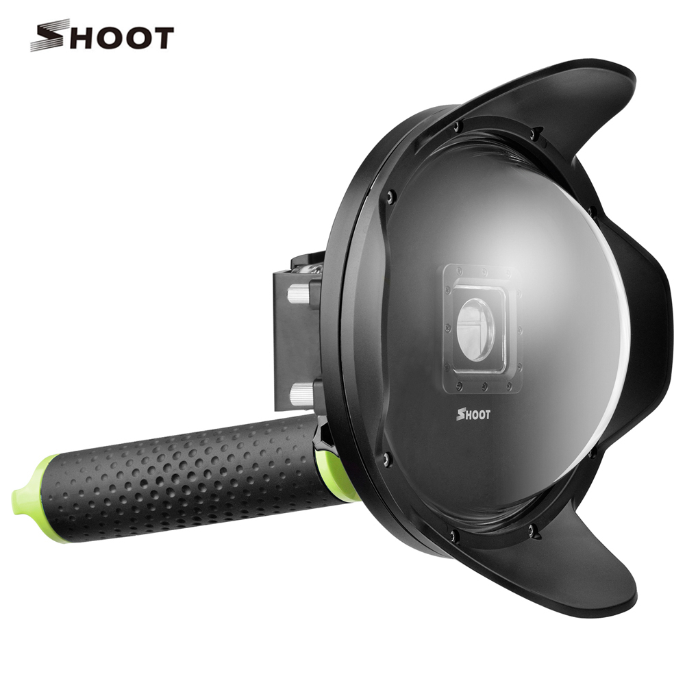 6 inch Waterproof Dome Port Underwater Photography Dome for Yi Xiaoyi 2  with Waterproof Housing Floaty Monopod 30 mi diving dome port underwater lens housing for xiaoyi 4k xiaoyi 2 camera with waterproof case hood cover case pistol tigger