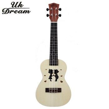 Mini Guitarra de madera ukelele de 23 pulgadas par de modelos de abeto Sapele Mini Hawaii pequeño Color guitarras pequeñas 4 cuerdas Guitarra uc-hand