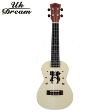 Mini Wooden Guitar 23 inch Ukulele Couple Models Spruce Sapele Hawaii Small Color Guitars 4 Strings Guitarra  UC-Hand