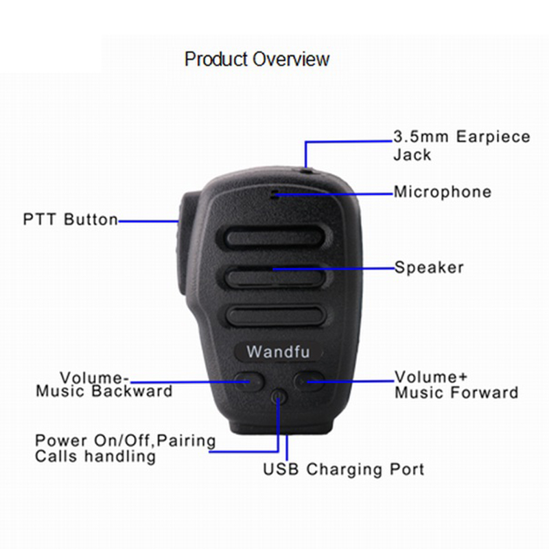 Image 2 - Wireless Bluetooth Handheld Microphone Intercom For the PTT APP Zello Azett Bper ESChat Bper For Apple IOS And Android System-in Walkie Talkie from Cellphones & Telecommunications