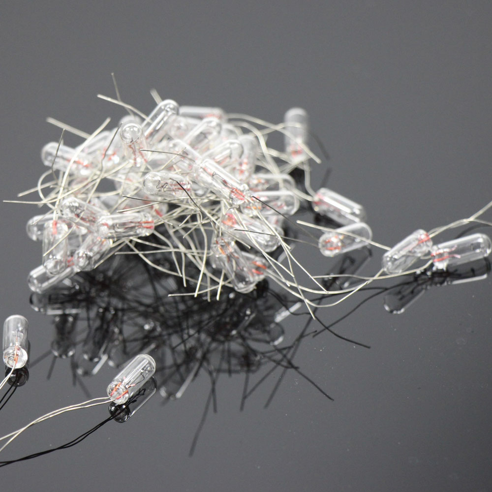 Grain of Wheat = 20 pcs Clear 12V Mini Bulbs with wires