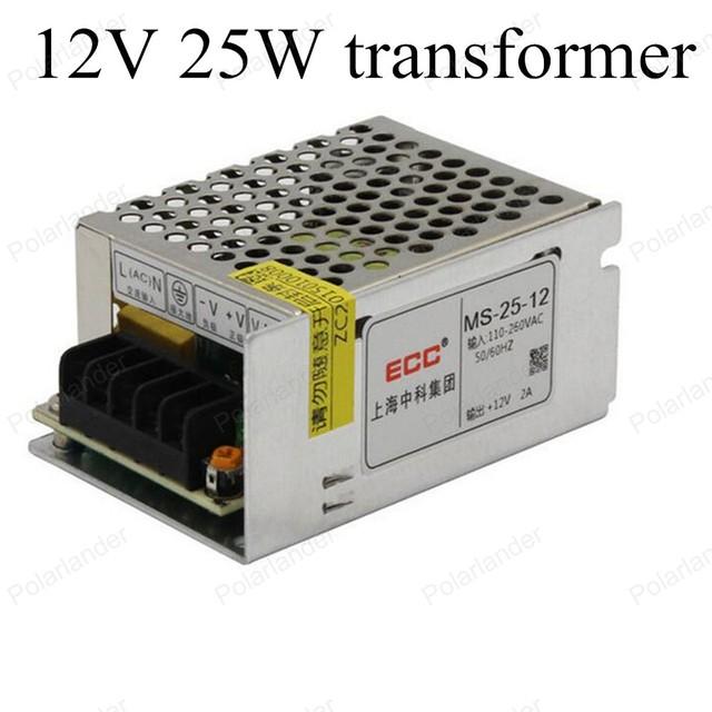 Tamaño Mini LED adaptador DC 12 V 25 W Interruptor de Alimentación para la Tira de Luz LED de Conmutación AC 110 V/220 Transformadores de Iluminación