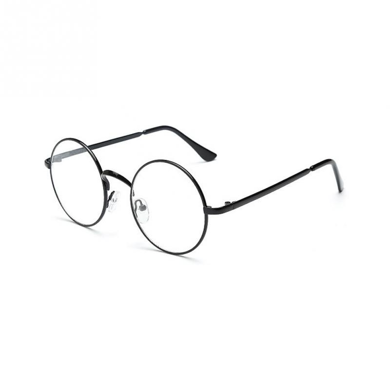 Unisex Women Men Retro Round Metal Frame Clear Lens Glasses UV 400 Silver Gold Anti-radiation Nerd Spectacles Eyeglass