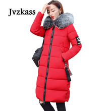 Jvzkass 2019 new Plus size cotton coat female winter plus fertilizer to increase the long section loose thick M-5XL Z27