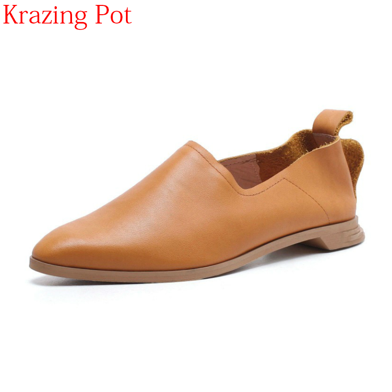 New Arrival Genuine Leather Elegant Streetwear Style Low Heels Pointed Toe Spring Shoes Pointed Toe Office Lady Women Pumps Lc1 new genuine leather superstar solid thick heel zipper gladiator women pumps pointed toe office lady nude runway casual shoes l88
