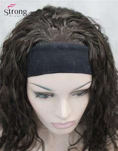 Image 5 - StrongBeauty ארוך מתולתל שחור חום בלונד סרט סינטטי פאה של נשים פאות