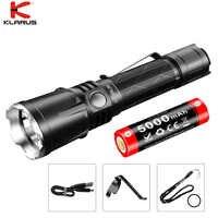 2019 Klarus XT21X LED Taschenlampe CREE XHP70.2 4000 lumen USB Lade Taktische mit 21700 Li-Ion Batterie für Suche, Camping