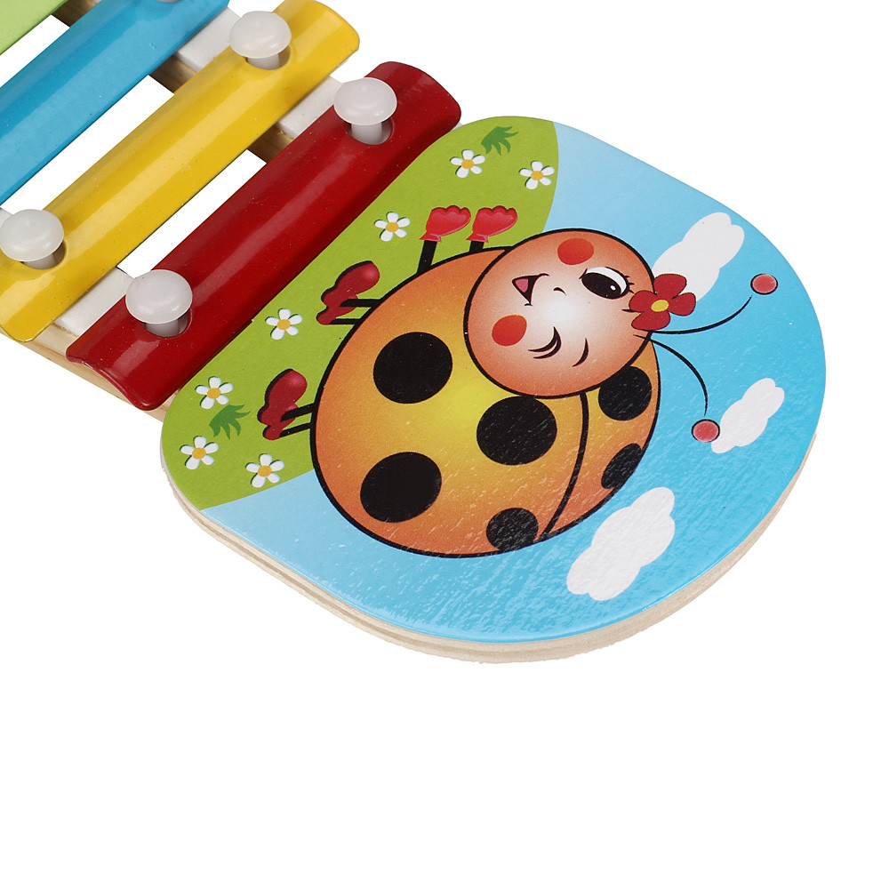 Retail Child Kid Baby 8-Note Wooden Musical Toys Wisdom Juguetes Music Instrument WSM510