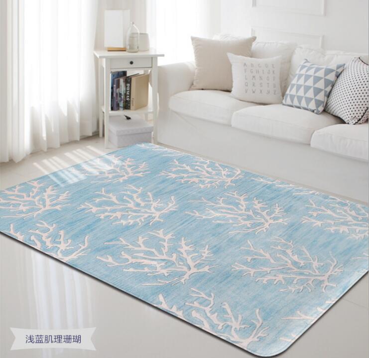 2018 Morden mer animaux corail velours tapis pour salon chambre tapis ordinateur canapé Table basse tapis et tapis de jeu - 5