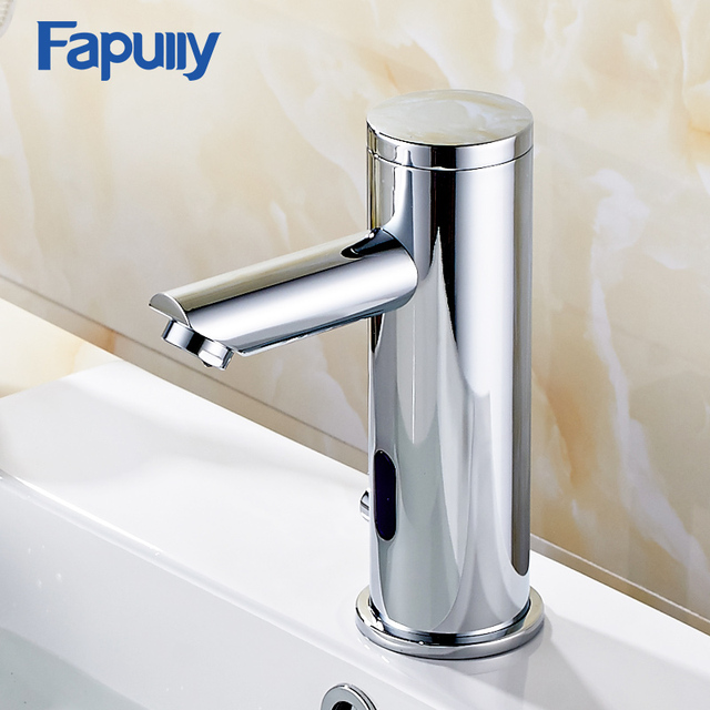 Ordinaire Fapully Automatic Inflrared Sensor Hand Touch Tap Hot Cold Bathroom Sink  Faucet Chrome Polished Bathroom Sensor