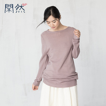 XianRan Women Tops Casual Loose Wool Acrylic Shirt Long Sleeve One Size Tops High Quality Free Shipping Warm Gray purple