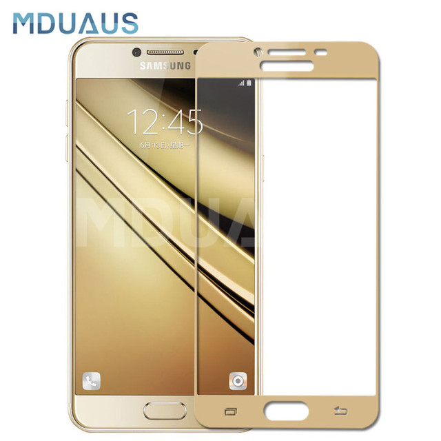 9D ป้องกันแก้วสำหรับ Samsung Galaxy A3 A5 A7 J3 J5 J7 2016 2017 S7 กระจกนิรภัยหน้าจอ Protector แก้วฟิล์ม