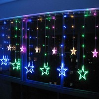 Multi color 2 x 1m WEDDING Curtain LED LIGHTS Holiday CHRISTMAS Background Decoration Lamps 220V NEW Free Shipping