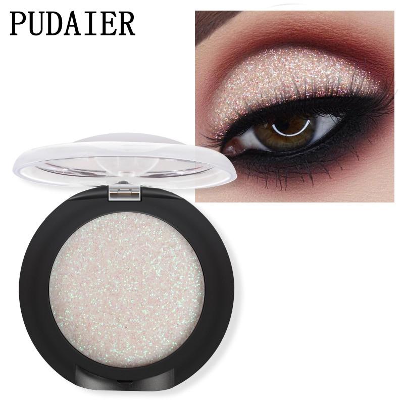 Eye Glitter Pigmented Shimmery Eyeshadow Powder Single Palette Metallic Shades Diamond High Light Sequins Eye Shadow Cosmetics
