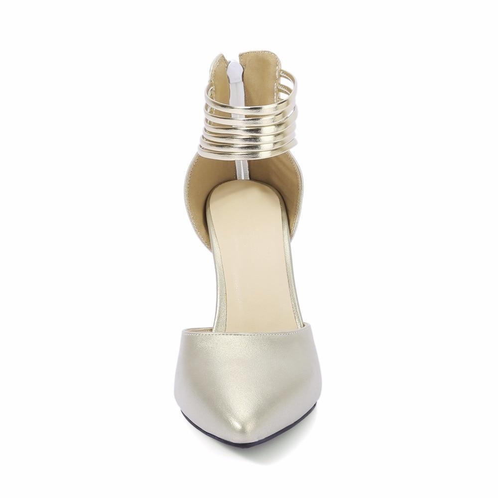 S. romance 여성 샌들 플러스 크기 31 44 높은 뒤꿈치 패션 버클 스트랩 사무실 레이디 펌프 여성 신발 골드 핑크 그레이 그린 ss922-에서하이힐부터 신발 의  그룹 3