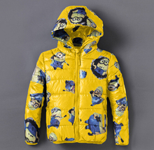 winter jacket for boys children cotton-padded Parkas clothes,boys les minions snowsuit jacket,boys kids hooded down coat jackets