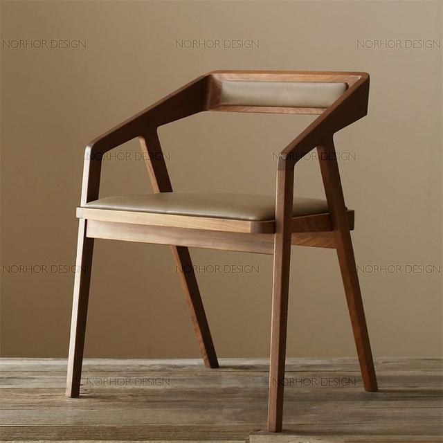 Attractive Special Residential Furniture Chairs Minimalist Chairs Child Household Solid  Wood Armchair Wood Chair Ready