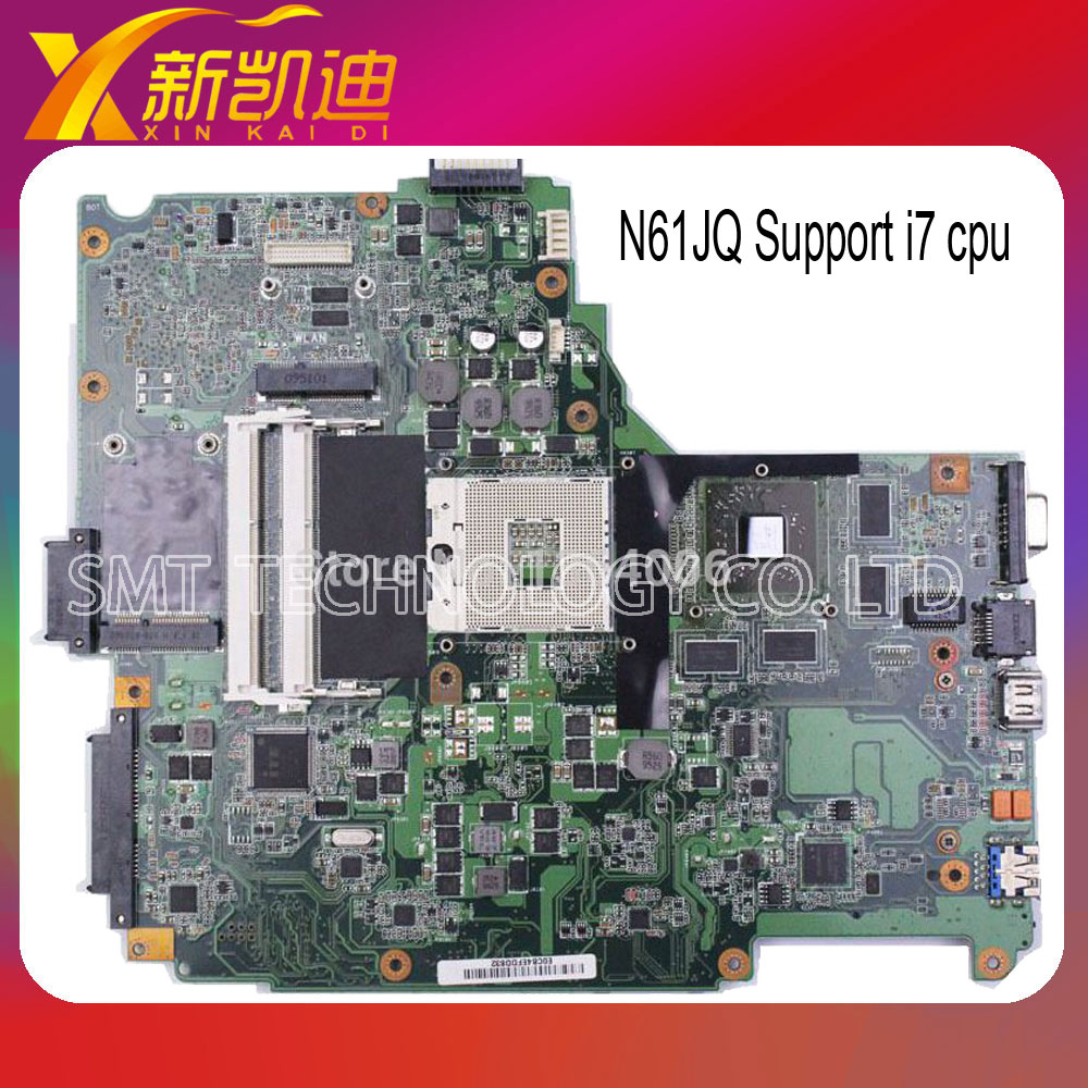 N61JQ motherboard mainboard systemboard for ASUS N61JQ Laptop non-integrated support intel i7 for DDR3 asus ms g31mel support ddr2 775 pin integrated small plate g31 motherboard