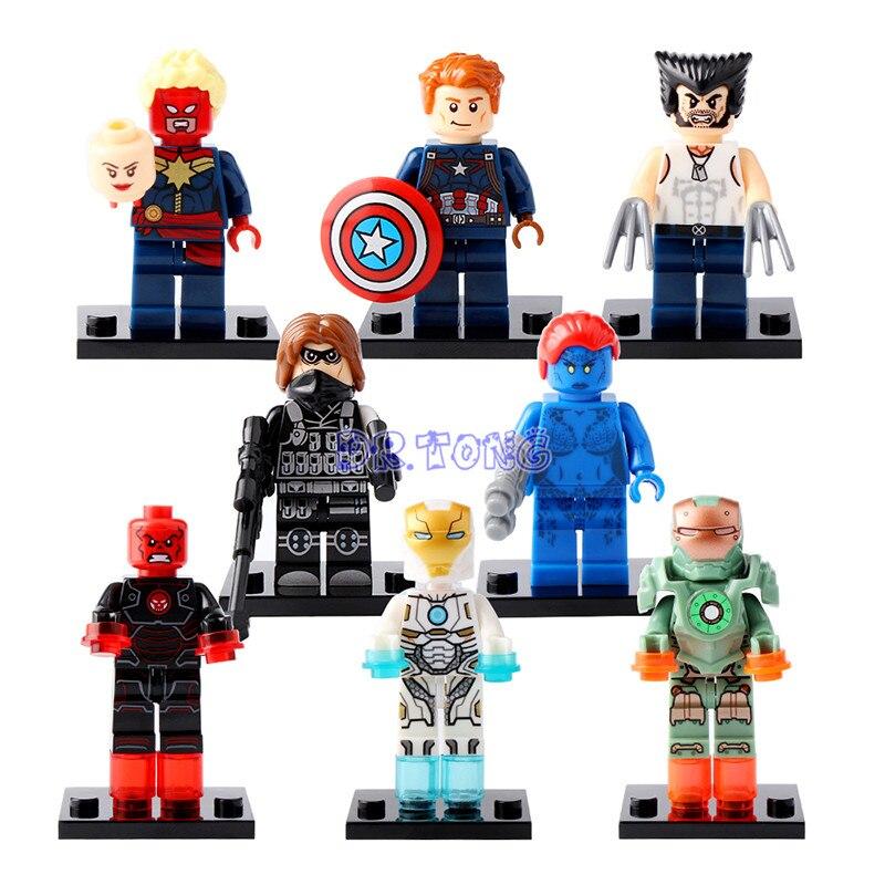 DR.TONG Super Hero Captain America 3 Winter Soldier/Black Panther/Hyperion/Wolverine Building Blocks Bricks Child Toys XH0109 xh 648 super hero building blocks
