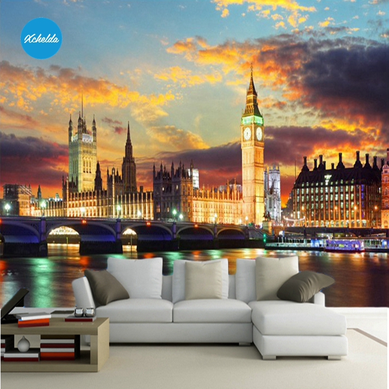XCHELDA Custom 3D Wallpaper Design Light London Photo Kitchen Bedroom Living Room Wall Murals Papel De Parede Para Quarto kalameng custom 3d wallpaper design street flower photo kitchen bedroom living room wall murals papel de parede para quarto