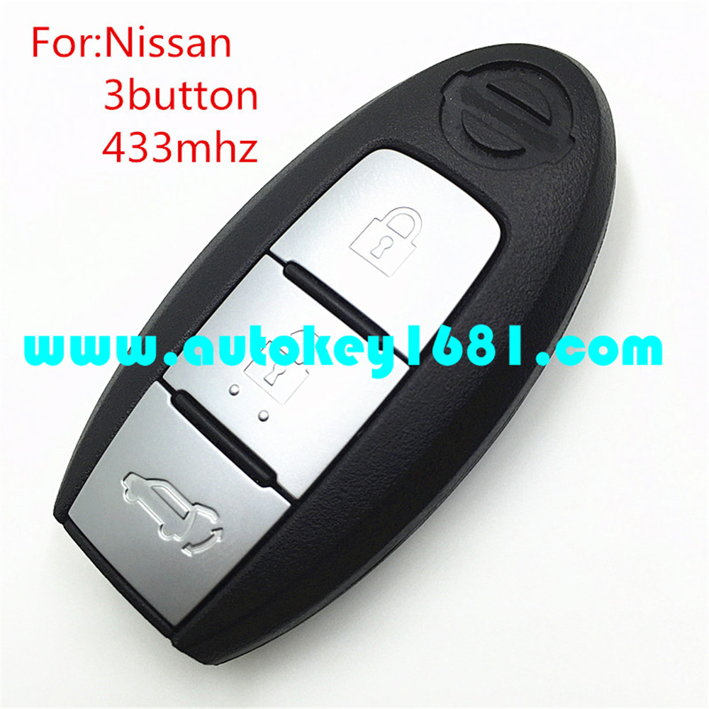 Car Key For NISSAN JUKE Tiida SMART KEY FOB 3 BUTTON 433mhz With 4A Chip with Key blade