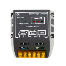 Controlador de Carga Todo o Mundo em Estoque! 1 PCS 20A 12 V e 24 V Painel Solar DA Bateria Regulador Proteção Seguro Quente em