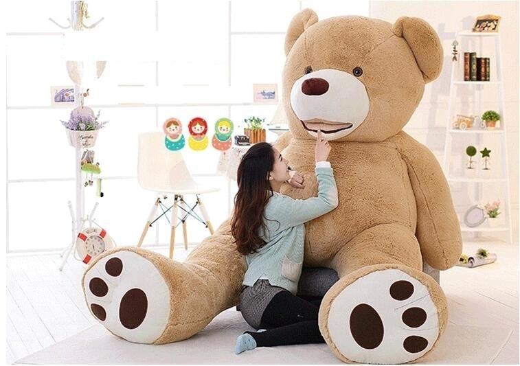 Cheap 340CM huge giant stuffed teddy bear big large huge brown plush soft toy kid children doll girl Birthday Christmas gift - 2