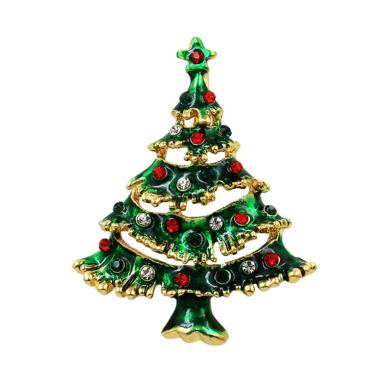 baiduqiandu Enamel Snowman Santa Tree Brooch Pin Christmas Gifts Jingle Bell Boots Brooches Charm Crystal Christmas Gift in Brooches from Jewelry Accessories