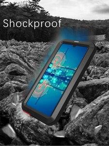 Image 3 - جراب من LOVE MEI مضاد للماء لهاتف Huawei P30 غطاء مقاوم للصدمات لهاتف Huawei P30 Pro P30 حافظة حماية من الألومنيوم P30 زجاج الغوريلا