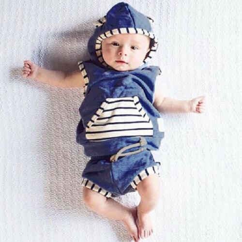 Bodysuit Hat Baby Boy Girls Outfits Clothes Cotton Romper Jumpsuit Clothing Set
