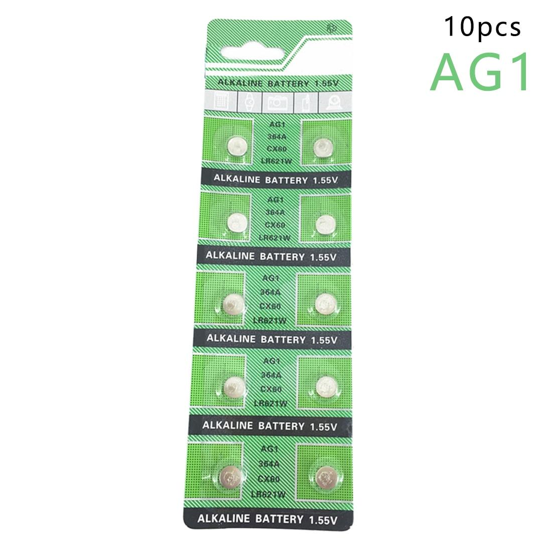 centechia Pro Button Battery AG1 364 SR621 SR60 SR60L Alkaline Coin Cell Button Batteries For Watch x10 1.55V EE6202 цена 2017