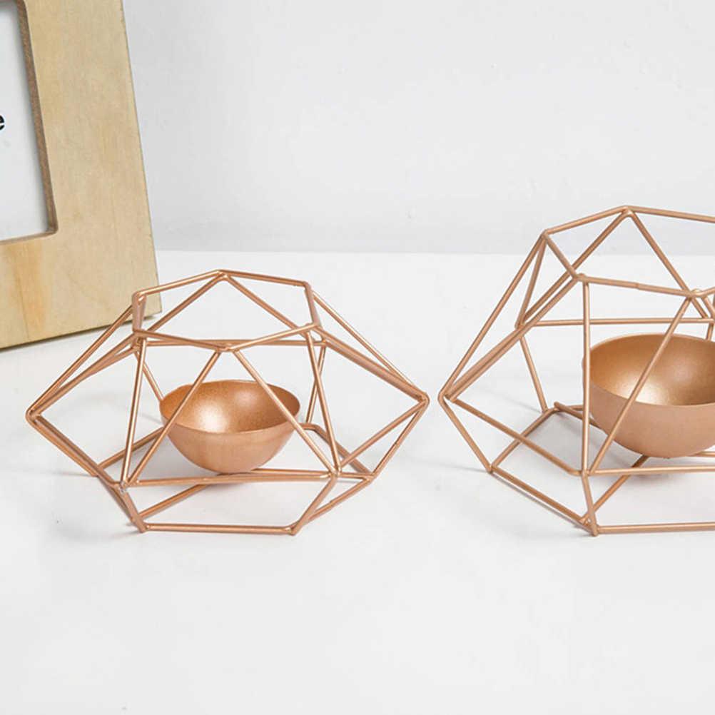 Скандинавские минималистичные стильные украшения геометрические подсвечники настенные бра соответствующие стальные маленькие подсвечники для чайника