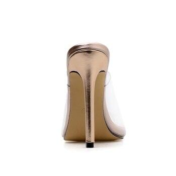 Chaussures Transparentes Hausschuhe 2019 Sexy PVC Gelee Sandalen Klar Schuhe Slides Dünne High Heels Offene Spitze Sandalen Damen Schuhe