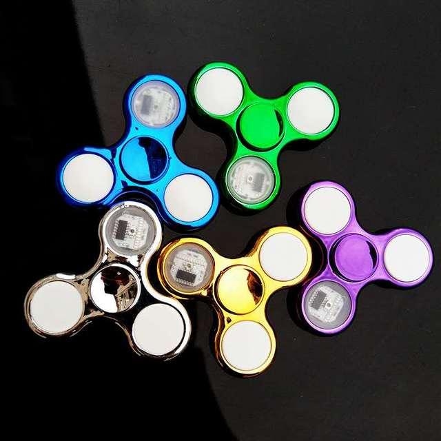 Luminous LED light Fidget Spinner Hand Top Spinners Glow in Dark Light EDC Figet Spiner Batman Finger Stress Relief Toys