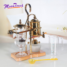 500ml A Glass Syphon Siphon Drop Coffee Maker Pot 4 Cups Belgian Belgium Luxury Royal Family Balance Polished Rose Gold Color