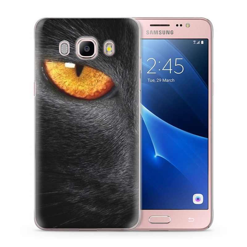 Do Samsung Galaxy J7 2016 przypadku J710 J710F etui na telefon miękka TPU pokrywa silikonowa kwiat motyl Funda W010