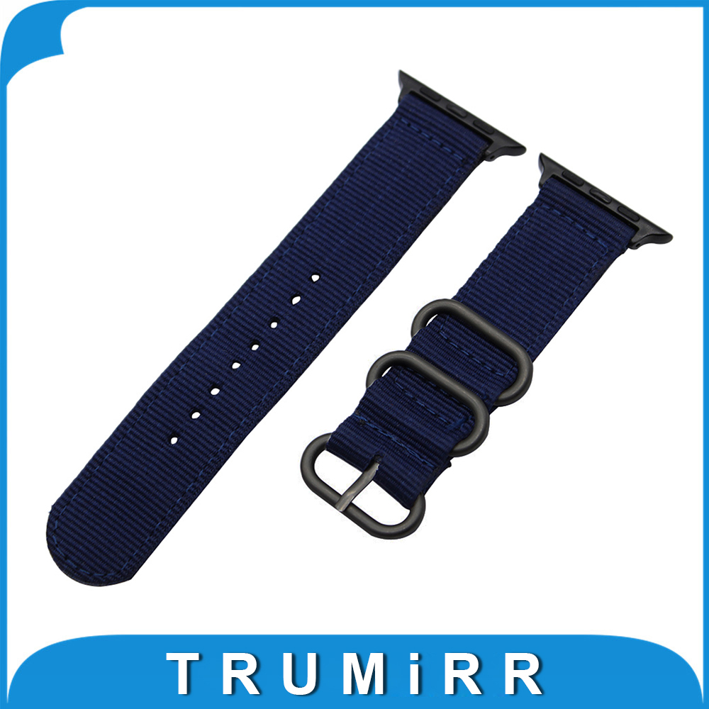 Nylon Watchband + Adapters for iWatch Apple Watch 38mm 42mm Zulu Band Fabric Strap Wrist Belt Bracelet Black Blue Brown Green 18mm 20mm 22mm nylon watchband zulu strap for timex men women watch band fabric belt canvas wrist bracelet black blue brown grey