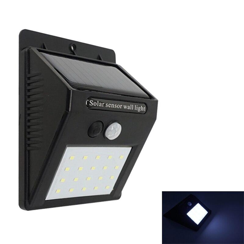 لوحة تعمل بالطاقة الشمسية LED الشمسية ضوء الشارع للماء في الهواء الطلق جدار الشمسية مصباح 8/16/20 LED حديقة الإضاءة مع البير استشعار الحركة