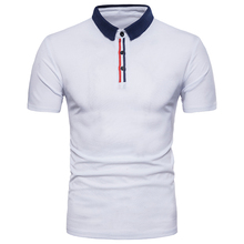 2018 New casual T-shirt Tops brand male striped color mens slim short sleeved T-shirts summer style dress men EU/US large size