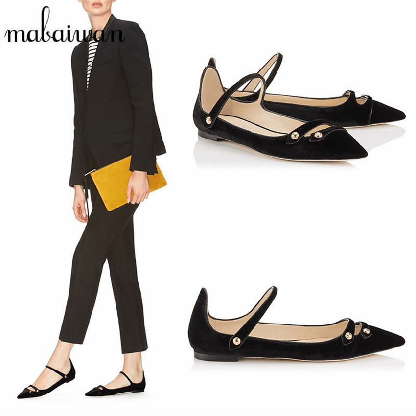 Vintage Velvet Women Pointed Toe Ballerina Flats Casual Loafers Soft Flat Shoes Woman Ballet Shoes Moccasins Espadrilles 2017 spring summer new women casual pointed toe loafers flats ballet ballerina flat shoes plus size 34 43