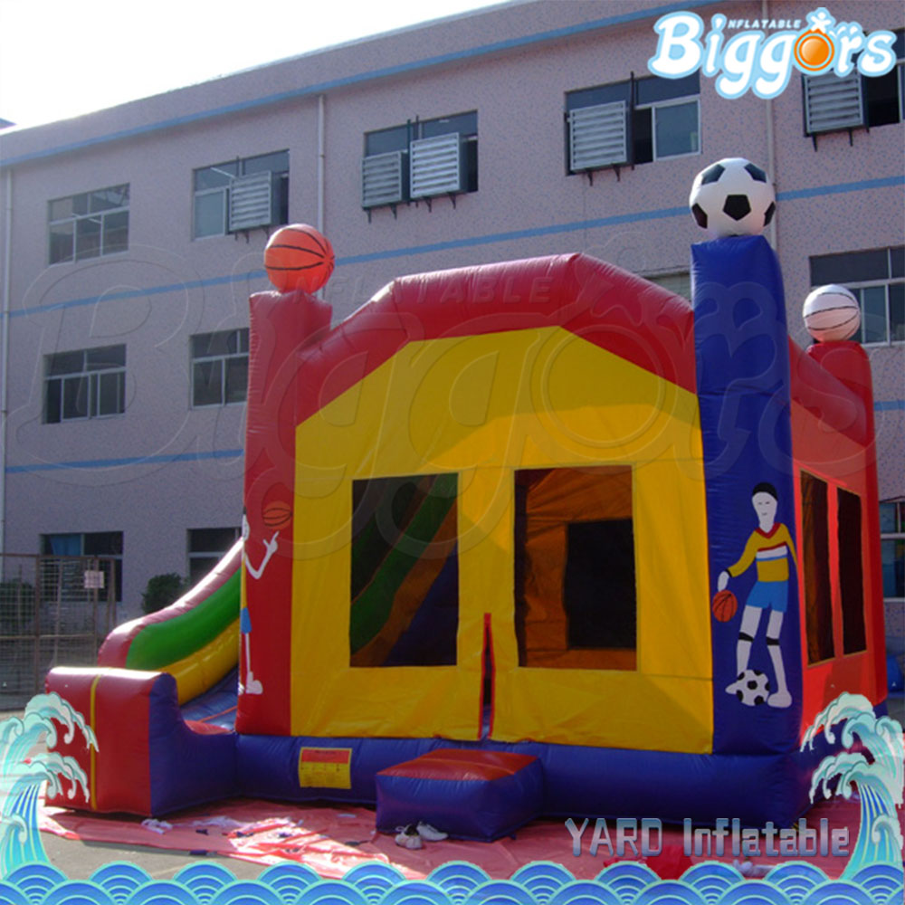 Inflatable Combo Jumping House With Slide Kids Toy Funny Game inflatable pool slide funny water slide combo dual slides