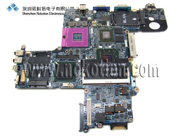 ФОТО Hot Sale For DELL D630 Laptop motherboard p/N:R872J R873J Intel with nvidia chip ddr2 Socket PGA478 Mainboard full tested