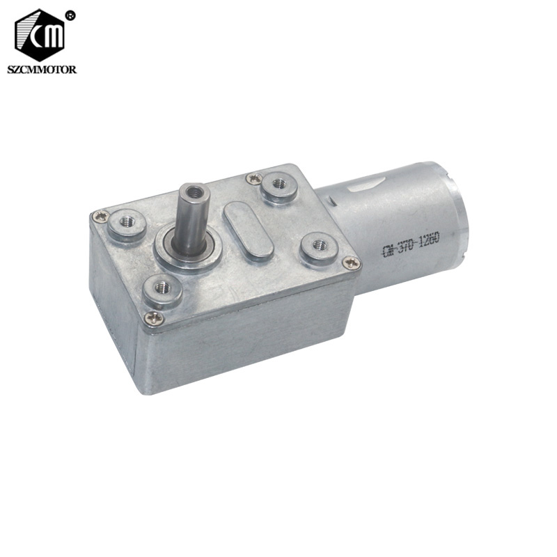 20pcs Worm Geared Motors 6v 24v Low Speed 2RPM 150RPM Speed Reduction High Torque Turbo Worm