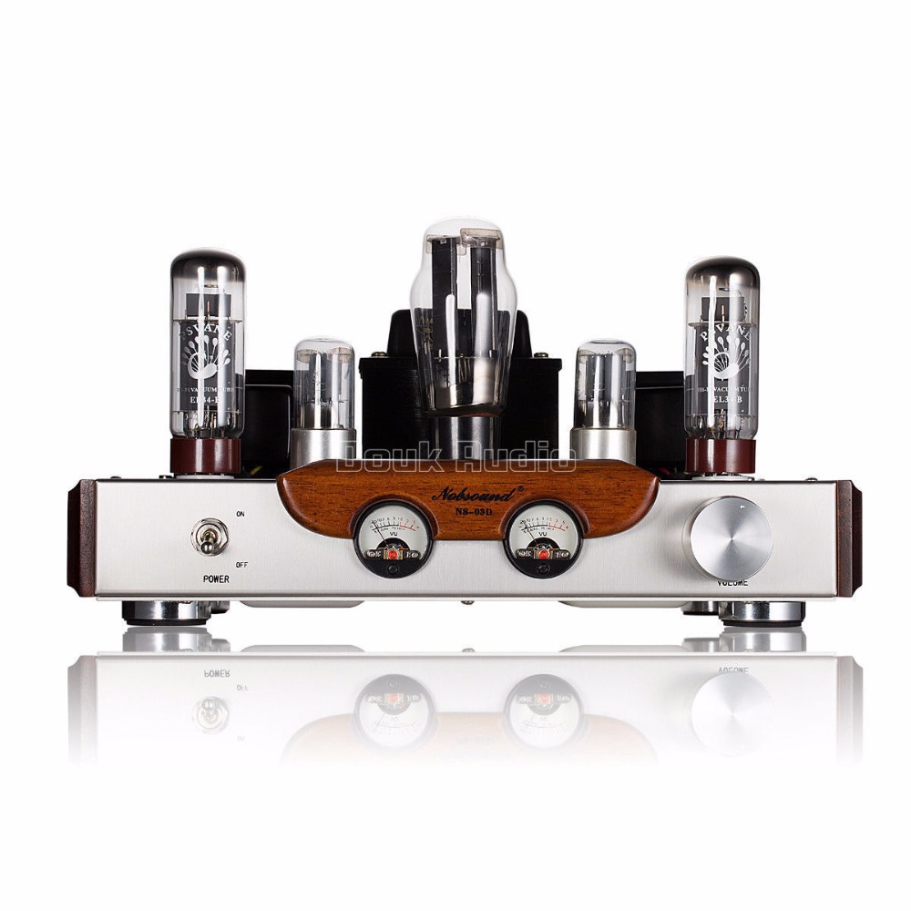 2019 Latest Nobsound High-end PSVANE EL34 Tube Amplifier Class A power Amp Brushed Metal Panel HiFi Amplifier