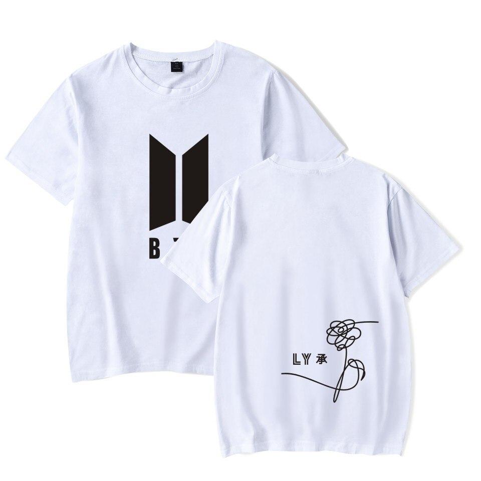 Kpop Bts bangtan boy loveyourself man T-shirt short sleeve cotton blended summer mans' t shirt