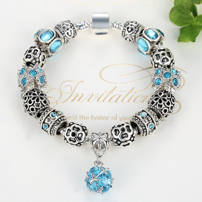 BELAWANG Autentiska Tibeten Silver 925 Uggla Crown Heart Charm - Märkessmycken - Foto 4