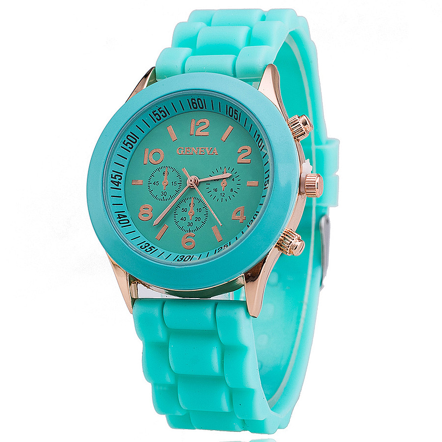 Silicone geneva watch relogio feminino fashion women wristwatch casual luxury watches hot for Watches geneva