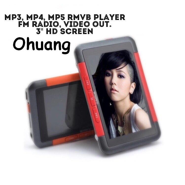 Qualité Réelle Capacité 8 GB 3 écran Mp3 Mp4 Mp5 RMVB HD Musique Lecteur Vidéo avec Haut-Parleur et TF Support de la Carte